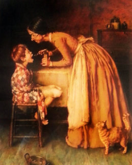 Castor Oil 1970 Limited Edition Print by Norman Rockwell