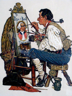 Ye Pipe N Bowl 1976 Limited Edition Print by Norman Rockwell