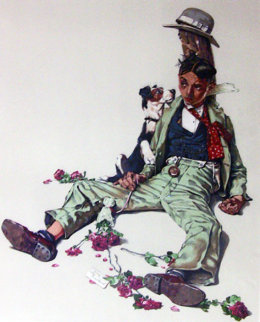 Rejected Suitor 1976 Limited Edition Print - Norman Rockwell