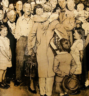 Homecoming (Christmas) 1971 Limited Edition Print by Norman Rockwell
