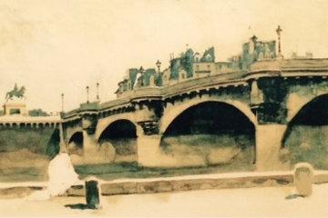 Paris Bridge 1932 HS Limited Edition Print by Norman Rockwell