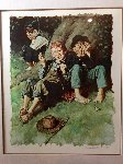 Smoking AP 1977 Limited Edition Print - Norman Rockwell