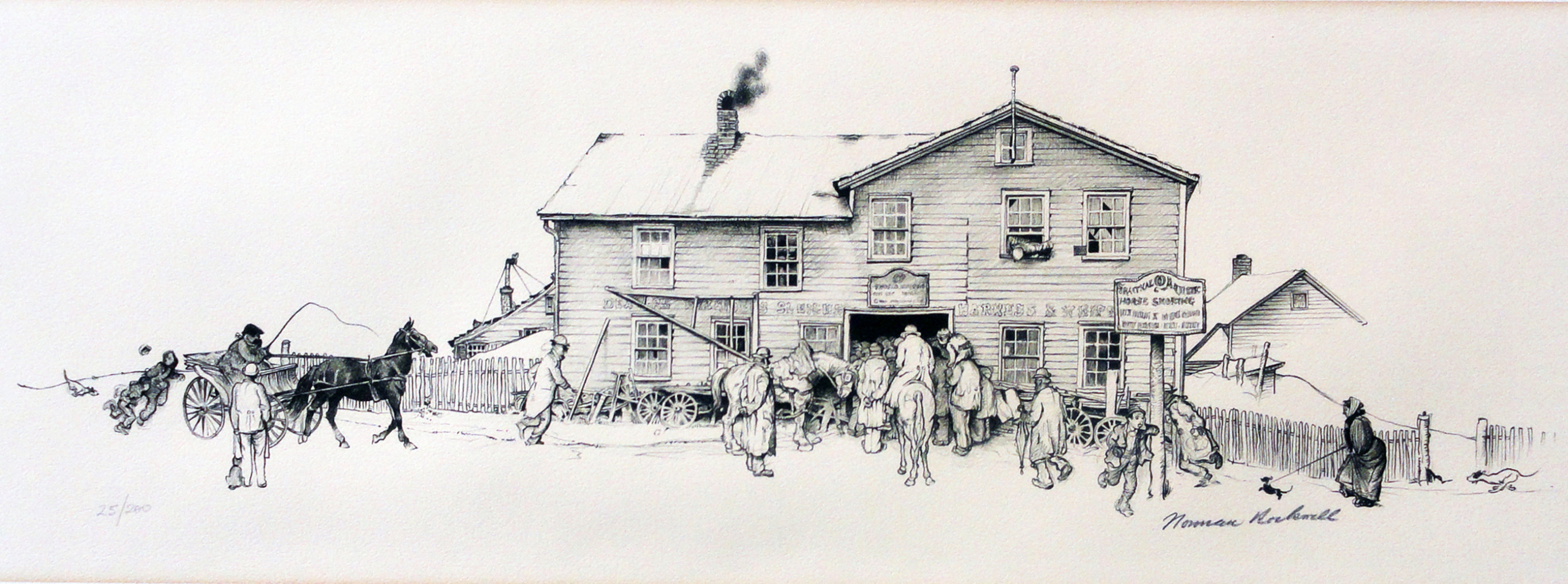 Blacksmith Shoppe (Blacksmith's Boy - Heel And Toe) 1971 Limited Edition Print by Norman Rockwell