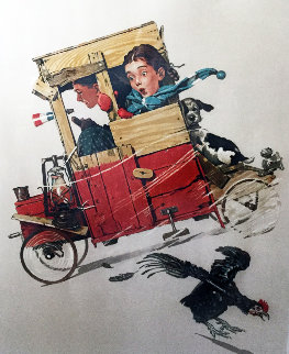 Downhill Racer AP 1976 Limited Edition Print by Norman Rockwell