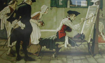 Colonial Sign Painter 1970 Limited Edition Print - Norman Rockwell