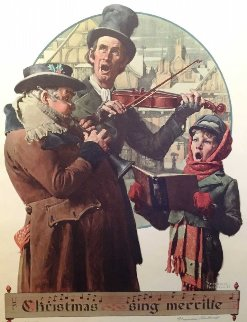 Christmas Carol AP Limited Edition Print by Norman Rockwell