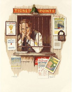 Ticket Seller AP 1970 Limited Edition Print - Norman Rockwell