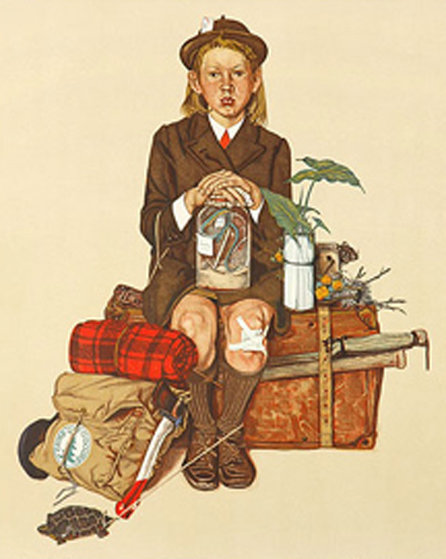Back From Camp 1976 Limited Edition Print by Norman Rockwell