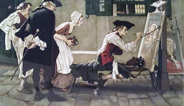 Colonial Sign Painter 1975 Limited Edition Print - Norman Rockwell
