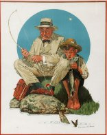 Catching the Big One AP Limited Edition Print by Norman Rockwell - 1