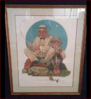Catching the Big One AP Limited Edition Print by Norman Rockwell - 2