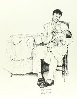 Two O'clock Feeding Limited Edition Print by Norman Rockwell
