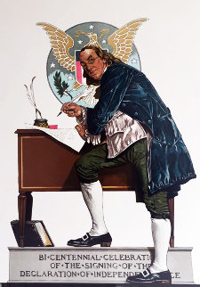 Ben Franklin 1970 Limited Edition Print by Norman Rockwell
