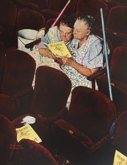 Charwomen 1970 Limited Edition Print - Norman Rockwell