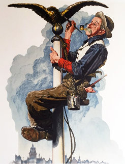 Gilding the Eagle 1970 Limited Edition Print - Norman Rockwell