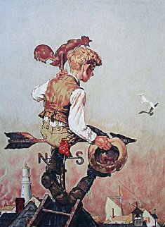 Under Sail AP 1976 Limited Edition Print - Norman Rockwell