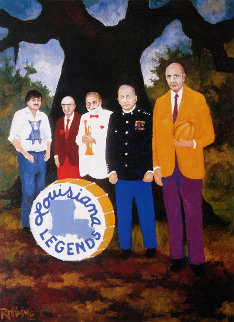 Louisiana Ledgends 1981 Limited Edition Print by Blue Dog George Rodrigue