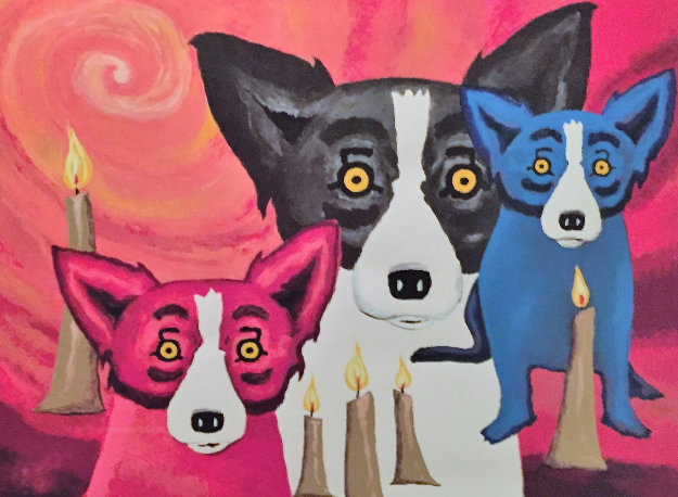 By the Light of the Journey  1997 Limited Edition Print by Blue Dog George Rodrigue