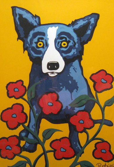 A Garden Party 1998 By Blue Dog George Rodrigue
