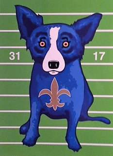 We Blues Dem' Away 2-07-10 Limited Edition Print - Blue Dog George Rodrigue