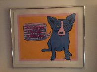 Sometimes I Feel Like a Blue Dog 1991 Limited Edition Print by Blue Dog George Rodrigue - 1