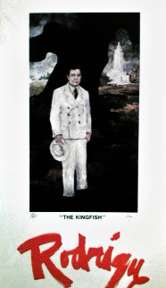 Huey Long: Kingfish (Galerie Antenea, Paris) HS 1980 Limited Edition Print - Blue Dog George Rodrigue