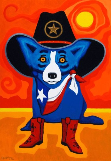 Take Me Back to Texas  2015 Limited Edition Print by Blue Dog George Rodrigue
