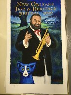 New Orleans. Jazz Fest Poster Signed 2000 HS Limited Edition Print by Blue Dog George Rodrigue - 1