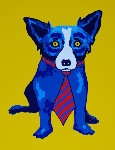 Lunch At the Club AP 1996 Limited Edition Print - Blue Dog George Rodrigue
