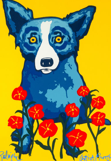 Spring is Here  AP 1996  Limited Edition Print by Blue Dog George Rodrigue