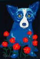 How My Garden Grows 1996 Limited Edition Print - Blue Dog George Rodrigue