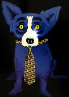 Tie Me Up Limited Edition Print - Blue Dog George Rodrigue