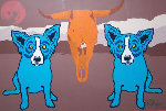 Moo Cow Blues 1993 Limited Edition Print - Blue Dog George Rodrigue
