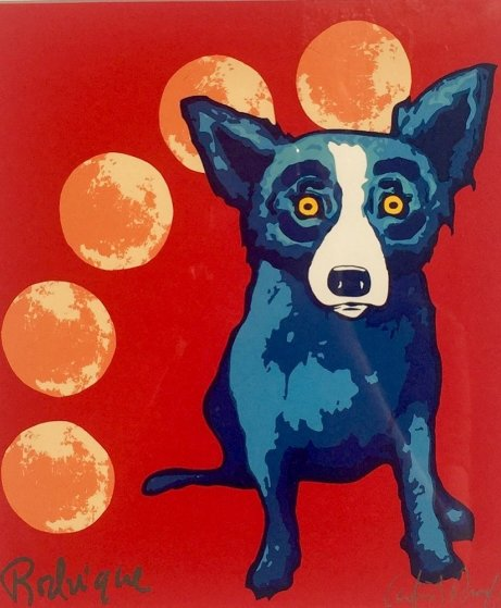 Many Moons 1996 Limited Edition Print by Blue Dog George Rodrigue