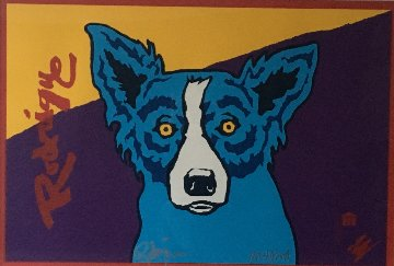 Untitled (Museum Edition) AP 1993 Limited Edition Print - Blue Dog George Rodrigue