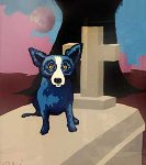 Moon of The Loup Garou 1995 Limited Edition Print - Blue Dog George Rodrigue