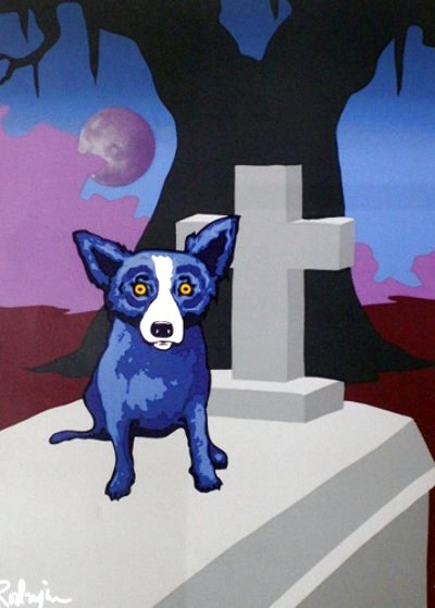 Moon of The Loup Garou Limited Edition Print by Blue Dog George Rodrigue