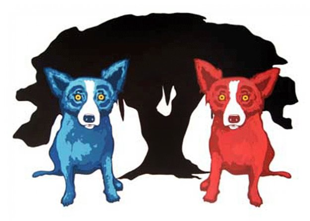 My Bad Brother  1997 Limited Edition Print by Blue Dog George Rodrigue