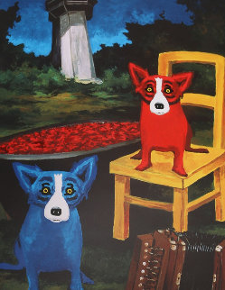Boiling My Blues Away Poster 1998 HS Other - Blue Dog George Rodrigue