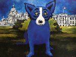 Washington Blue Dog 1992 Limited Edition Print - Blue Dog George Rodrigue