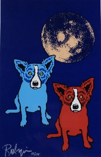 Cosmo's Moon 1992 Limited Edition Print - Blue Dog George Rodrigue