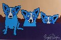Blues Are Pulling Me Down 1992 Limited Edition Print - Blue Dog George Rodrigue