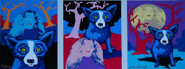 Night Love AP Limited Edition Print - Blue Dog George Rodrigue