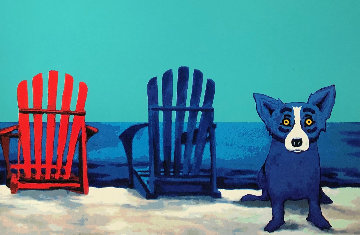 American Beach Limited Edition Print - Blue Dog George Rodrigue