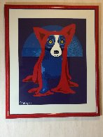 Hiding From the Moon 1995 Limited Edition Print by Blue Dog George Rodrigue - 2