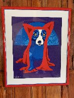 Hiding From the Moon 1995 Limited Edition Print by Blue Dog George Rodrigue - 7
