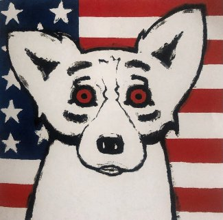 God Bless America 2001 Limited Edition Print - Blue Dog George Rodrigue