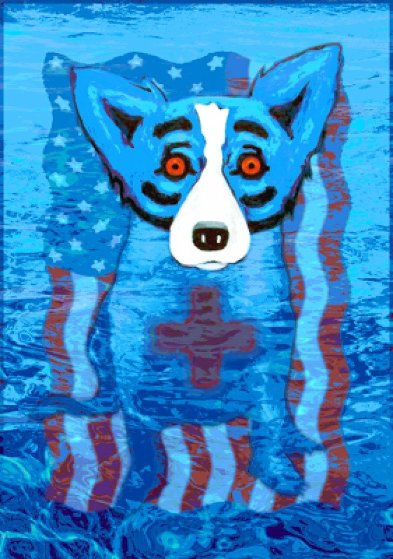 We Will Rise Again AP 2005 by Blue Dog George Rodrigue