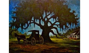 Youngsville Heritage Oak 2011 Limited Edition Print - Blue Dog George Rodrigue