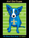 We Blues Them Away 2010 HS Limited Edition Print - Blue Dog George Rodrigue